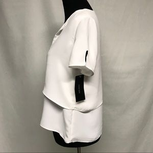 Zara Tops - NWT  Zara white short sleeve white tiered top